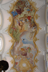 St Stephen is seen in this Fresco