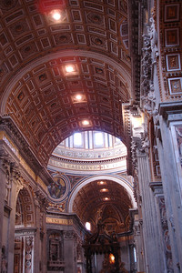 Inside St Peter's church at the Vatican