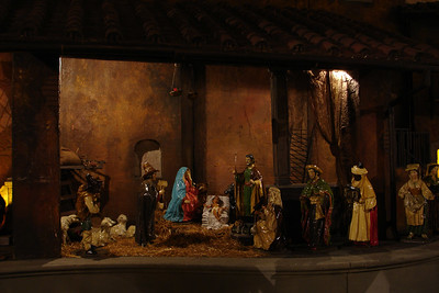 Nativity scene at the Spanish Steps