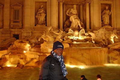 Julius at Trevi Fountain