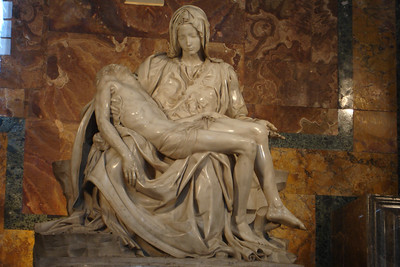 Michelangelo's Pieta, scuplted when he was only 24