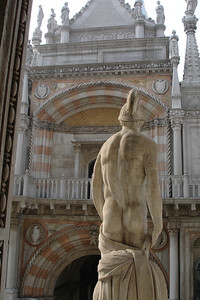 Statue in Doges palace