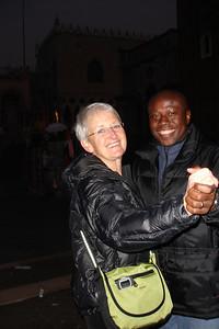 Mom and Julius dancing at Saint Marc Square