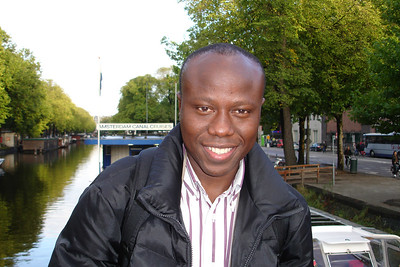 Infront of canal in amsterdam