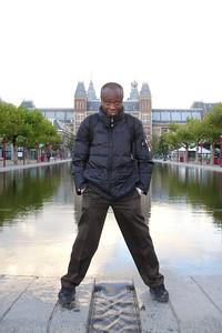 In front of Rijksmuseum in Amsterdam