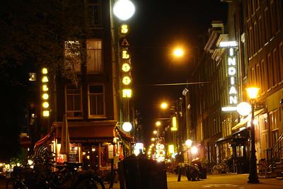 Typical tourist ghetto in Amsterdam