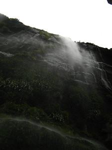 Below a waterfall
