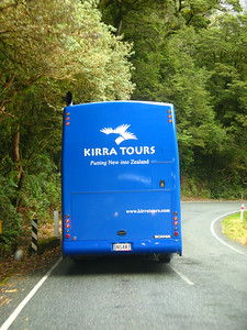 Not too many tour buses on the road