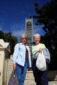 Mom and Nancy in front of the Anglican Cathedral