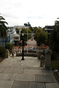 View of Nelson from steps of Anglican Cathedral