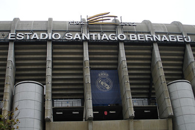 Outside Real Madrid's stadium