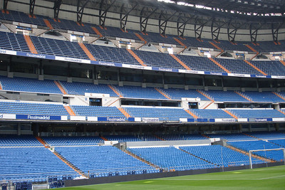 Santiago Bernabeu Stadium, home of Real Madrid. Seats 80,000 skinny people