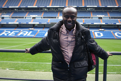 Julius on the Real Madrid Stadium Tour