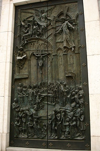 Door of the Almudena Cathedral