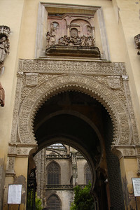 Many of the now Catholic buildings were originally built by the Moors. This building shows the common Moorish design