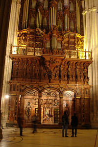One of two organs at Sevilla's Cathedral