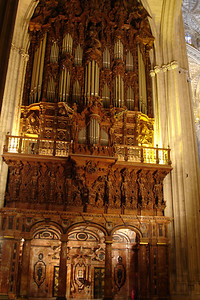 The second of two organs at Sevilla's Cathedral