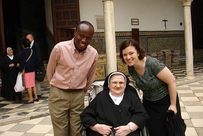 Sara and Julius with mother superior sister Corazone de Jesus