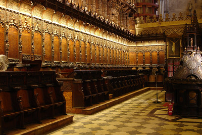 Choir in Sevilla's cathedral