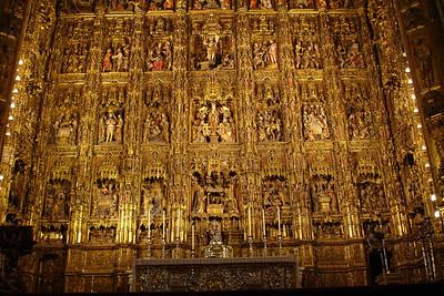 Altar in Sevilla's cathedral