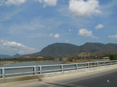 A bridge south of the city. Duane had a photo of him on the last bridge here after it was blown up by the Viet Cong!