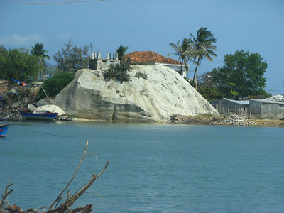 Another view of the giant rock from the land pier