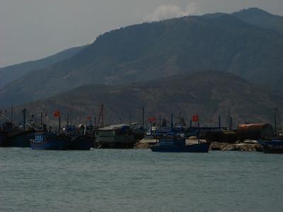 Fishing boats in Cam Ranh bay