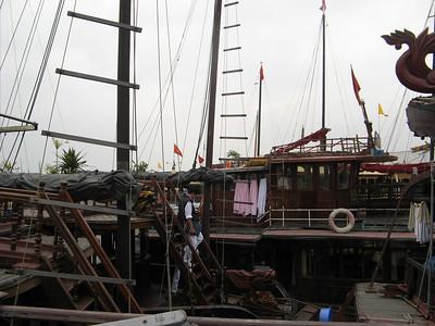 Boats at Halong harbor