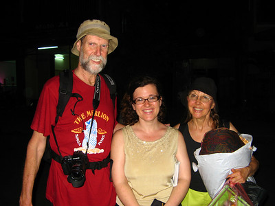With Irene and Richard, two Americans on holiday from their teaching jobs in China. We ended up sharing a room with them on the train from Sapa, to Hue and then randomly running into them in Hoi An! (they were on a one hour break from their bus trip to Saigon). With all that bonding, we became good friends. They are real inspirations for those who want to spend their retirement abroad!