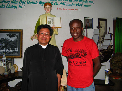 Julius with Rev Fr Anthony, pastor of Hoi An catholic church. We chatted about his visit to America a few years back which also included a visit to Seattle and Spokane! His biggest surprise? All the vietnamese nail salons. WHen I told him how much Americans will pay for a pedicure it made sense to him on why so many women go into the business.