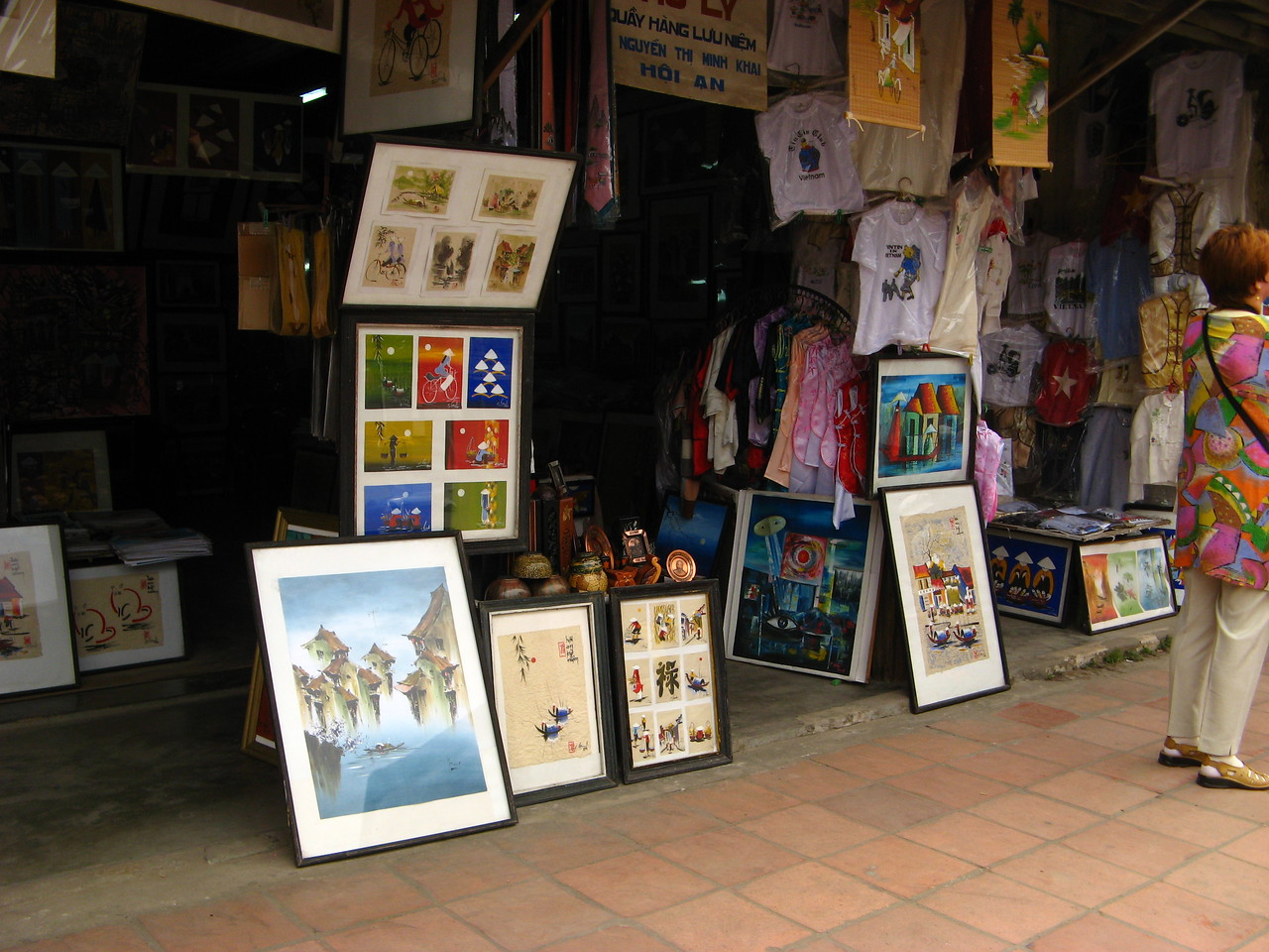 Plenty of fabulous art is available to buy in Hoi An