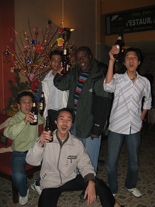 Partying with the locals! Julius gives a toast at a bar to ring in the new year. We were the bar's first customers of the New (the rest were friends of the owners) so we got a discount on our bar tab. Cheers to that!