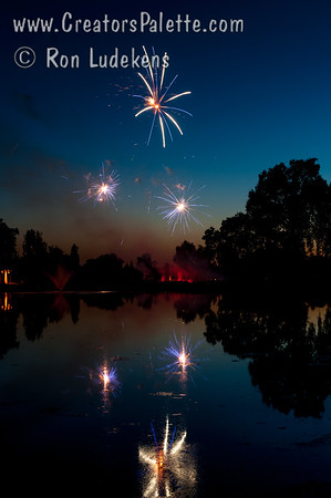 Fireworks at the Visalia Country Club 7-3-2014