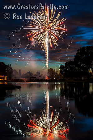 Photo taken July 3, 2015 at the Visalia Country Club - Fireworks show