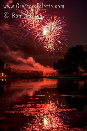 Fireworks at Visalia Country Club 7-3-2013