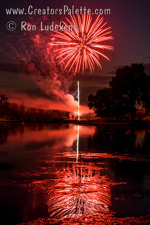 Fireworks at Visalia Country Club 7-3-2013