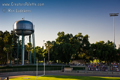 City of Visalia Water Tower outside Mineral King Bowl Images from July 4th Fireworks by City of Visalia