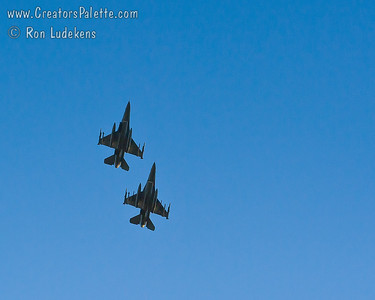 Air National Guard Flyover Images from July 4th Fireworks by City of Visalia