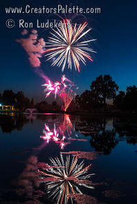 Fireworks at Visalia Country Club - July 2, 2017