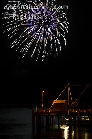 Morro Bay Harbor Festival Fireworks 10-4-2015