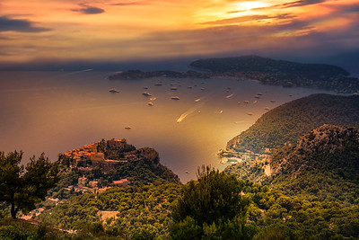 Sunset, Eze, Cap Ferrat, France