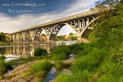 Hwy 99 Bridge over North Umpqua River near Winchester, Oregon