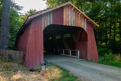 Drift Creek (Bear Creek) Covered Bridge in Lincoln County, Oregon