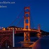 Golden Gate Bridge before sunrise.