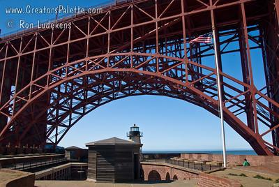 Fort Point under Golden Gate Bridge