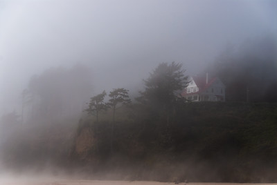 Light keeper's home at Heceta Head Lighthouse north of Florence, Oregon