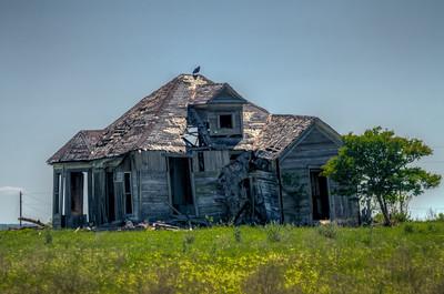 Abandoned home near Buckholts,, TX