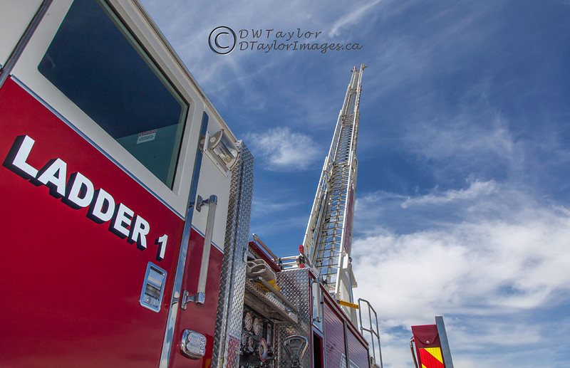 Fire Department ladder truck.