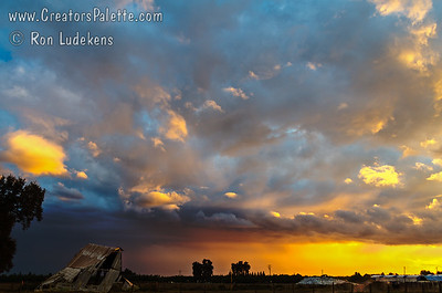 Sunset Over Old Milking Barn