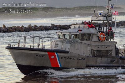 Coast Guard on a stormy day - Morro Bay, California